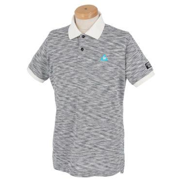 ルコック Le coq sportif メンズ ロゴ刺繍 プリントデザイン メランジ柄 半袖 ポロシャツ QGMPJA21 2020年モデル グレー(GY00)