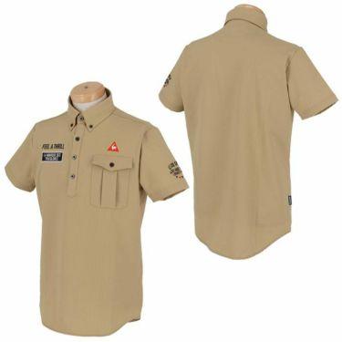 ルコック Le coq sportif メンズ ロゴ刺繍 サッカーストライプ 半袖 ボタンダウン ポロシャツ QGMPJA70 2020年モデル 詳細3