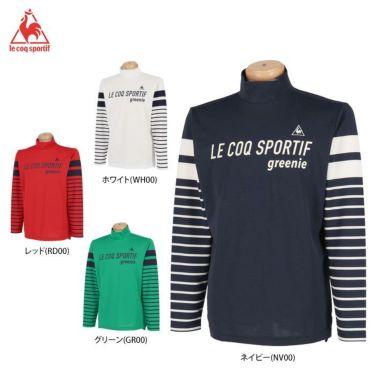 ルコック Le coq sportif メンズ ロゴプリント ボーダー柄 長袖 ハイネックシャツ QGMPJB01 2020年モデル 詳細1