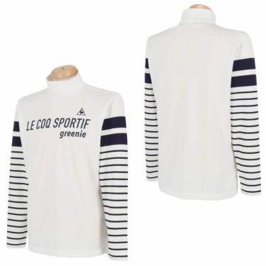 ルコック Le coq sportif メンズ ロゴプリント ボーダー柄 長袖 ハイネックシャツ QGMPJB01 2020年モデル 詳細3