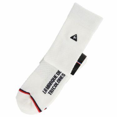 ルコック Le coq sportif メンズ ロゴ刺繍 レギュラーソックス QGBPJB06 WH00 ホワイト 2020年モデル ホワイト(WH00)