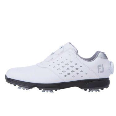 フットジョイ FootJoy eComfort BOA イーコンフォート ボア レディース ゴルフシューズ 98615 ホワイト/シルバー 2021年モデル 詳細1