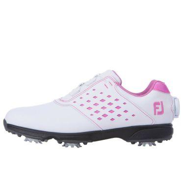 フットジョイ FootJoy eComfort BOA イーコンフォート ボア レディース ゴルフシューズ 98622 ホワイト/ピンク 2021年モデル 詳細1