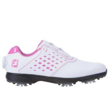 フットジョイ FootJoy eComfort BOA イーコンフォート ボア レディース ゴルフシューズ 98622 ホワイト/ピンク 2021年モデル 詳細3