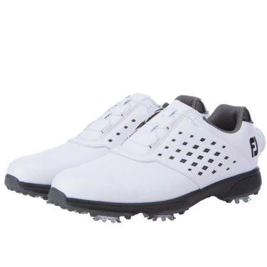 フットジョイ FootJoy eComfort BOA イーコンフォート ボア レディース ゴルフシューズ 98637 ホワイト/ブラック 2021年モデル