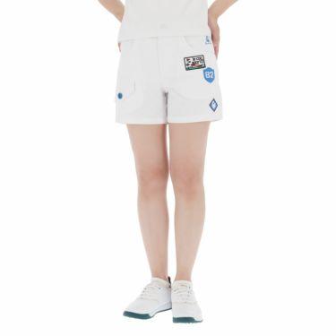 【ss特価】△ルコック レディース モチーフワッペン ストレッチ ショートパンツ QGWPJD50 [2020年モデル] ゴルフウェア [春夏モデル 50%OFF] 特価 ホワイト(WH00)
