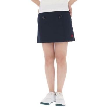 【ss特価】△ルコック レディース インナーパンツ一体型 ストレッチ プリーツ スカート QGWPJE00 [2020年モデル] ゴルフウェア [春夏モデル 50%OFF] 特価 ネイビー(NV00)