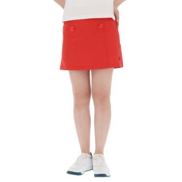 【ss特価】△ルコック レディース インナーパンツ一体型 ストレッチ プリーツ スカート QGWPJE00 [2020年モデル] ゴルフウェア [春夏モデル 50%OFF] 特価 レッド(RD00)