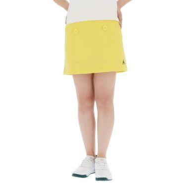 【ss特価】△ルコック レディース インナーパンツ一体型 ストレッチ プリーツ スカート QGWPJE00 [2020年モデル] ゴルフウェア [春夏モデル 50%OFF] 特価 イエロー(YL00)
