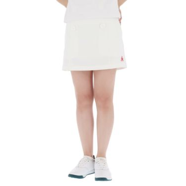 【ss特価】△ルコック レディース インナーパンツ一体型 ストレッチ プリーツ スカート QGWPJE00 [2020年モデル] ゴルフウェア [春夏モデル 50%OFF] 特価 ホワイト(WH00)