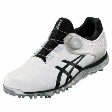 アシックス asics ゲルエース プロ 5 ボア メンズ ソフトスパイク ゴルフシューズ 1111A180 100 ホワイト/ブラック 2021年モデル