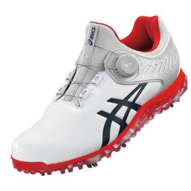 アシックス asics ゲルエース プロ 5 ボア メンズ ソフトスパイク ゴルフシューズ 1111A180 101 ホワイト/ピーコート 2021年モデル