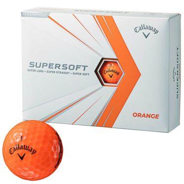 キャロウェイ SUPERSOFT スーパーソフト 2021年モデル ゴルフボール 1ダース(12球入り) オレンジ