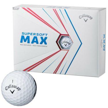 キャロウェイ SUPERSOFT MAX スーパーソフト マックス 2021年モデル ゴルフボール 1ダース(12球入り) ホワイト