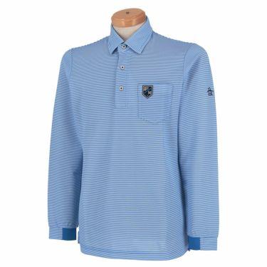 【ss特価】△マンシングウェア メンズ ボーダー柄 長袖 ポロシャツ MGMPJB02 [2020年モデル] ゴルフウェア [春夏モデル 50%OFF] 特価 ブルー(BL00)