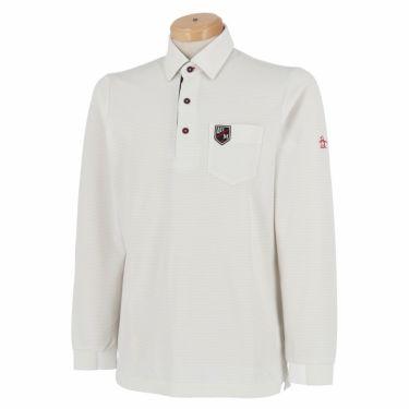 【ss特価】△マンシングウェア メンズ ボーダー柄 長袖 ポロシャツ MGMPJB02 [2020年モデル] ゴルフウェア [春夏モデル 50%OFF] 特価 グレー(GY00)