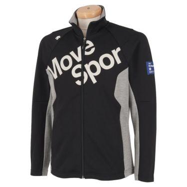 デサントゴルフ DESCENTE GOLF メンズ プリントデザイン ロゴ刺繍 配色切替 長袖 フルジップ ジャケット DGMPJL52 2020年モデル ブラック(BK00)