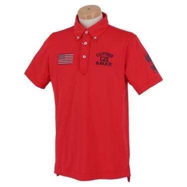 【ss特価】△カッター&バック メンズ ロゴ刺繍 フラッグ 半袖 ボタンダウン ポロシャツ CGMPJA21 [2020年モデル] ゴルフウェア [春夏モデル 50%OFF] 特価 レッド(RD00)
