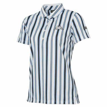 【ss特価】△カッパ Kappa レディース ストライプ柄 半袖 ポロシャツ KG922SS76 2019年モデル ホワイト3(WT3)