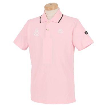 【ss特価】△カッパ メンズ ロゴ刺繍 半袖 ポロシャツ KGA12SS12 [2020年モデル] ゴルフウェア [春夏モデル 50%OFF] 特価 ピンク(PK)