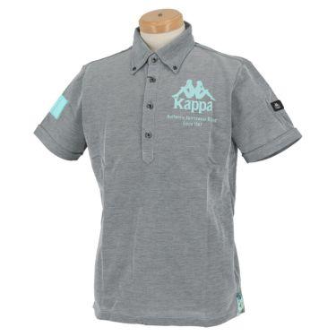 【ss特価】△カッパ メンズ ロゴプリント 半袖 ボタンダウン ポロシャツ KGA12SS14 [2020年モデル] ゴルフウェア [春夏モデル 50%OFF] 特価 ネイビー(NV)