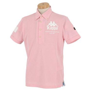 【ss特価】△カッパ メンズ ロゴプリント 半袖 ボタンダウン ポロシャツ KGA12SS14 [2020年モデル] ゴルフウェア [春夏モデル 50%OFF] 特価 ピンク(PK)