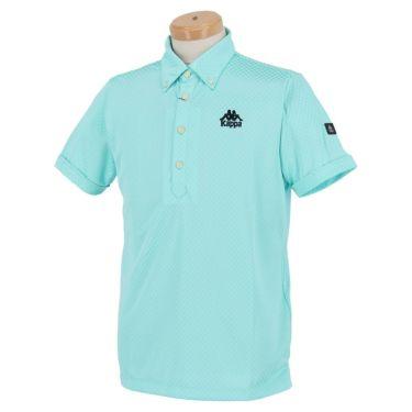 【ss特価】△カッパ メンズ チェック柄 半袖 ボタンダウン ポロシャツ KGA12SS17 [2020年モデル] ゴルフウェア [春夏モデル 50%OFF] 特価 ターコイズ(TQ)