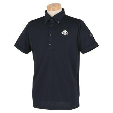 【ss特価】△カッパ メンズ チェック柄 半袖 ボタンダウン ポロシャツ KGA12SS17 [2020年モデル] ゴルフウェア [春夏モデル 50%OFF] 特価 ネイビー(NV)
