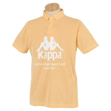 【ss特価】△カッパ メンズ ビッグロゴプリント 半袖 ポロシャツ KGA12SS33 [2020年モデル] ゴルフウェア [春夏モデル 50%OFF] 特価 イエロー(YE)