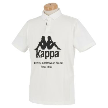 【ss特価】△カッパ メンズ ビッグロゴプリント 半袖 ポロシャツ KGA12SS33 [2020年モデル] ゴルフウェア [春夏モデル 50%OFF] 特価 ホワイト(WT)