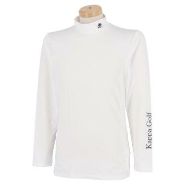【ss特価】△カッパ メンズ ロゴプリント 長袖 ハイネック インナーシャツ KGA12UT01 [2020年モデル] ゴルフウェア [春夏モデル 50%OFF] 特価 ホワイト(WT)