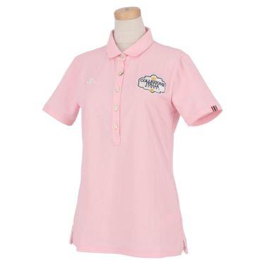 【ss特価】△カッパ レディース ロゴ刺繍 半袖 ポロシャツ KC922SS69 ゴルフウェア [春夏モデル 50%OFF] 特価 ピンク(PK)