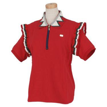 【ss特価】△カッパ レディース 半袖 ハーフジップ ポロシャツ KC922SS71 ゴルフウェア [春夏モデル 50%OFF] 特価 レッド(RD)