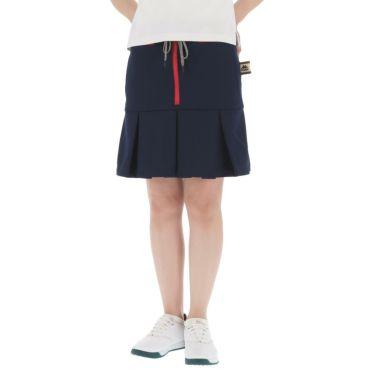 【ss特価】△カッパ レディース ストレッチ プリーツ スカート KC922SK73 ゴルフウェア [春夏モデル 50%OFF] 特価 ネイビー(NV)