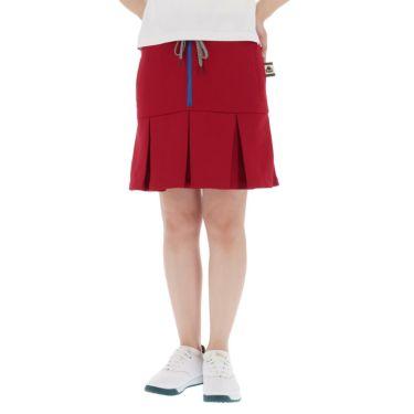 【ss特価】△カッパ レディース ストレッチ プリーツ スカート KC922SK73 ゴルフウェア [春夏モデル 50%OFF] 特価 レッド(RD)