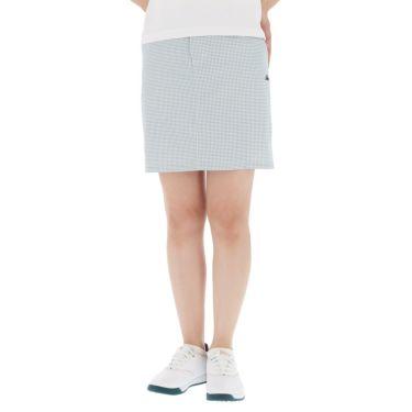 【ss特価】△カッパ レディース ロゴ刺繍 千鳥格子柄 スカート KG922SK73 ゴルフウェア [春夏モデル 50%OFF] 特価 ホワイト1(WT1)