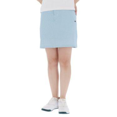 【ss特価】△カッパ レディース ロゴ刺繍 千鳥格子柄 スカート KG922SK73 ゴルフウェア [春夏モデル 50%OFF] 特価 ホワイト2(WT2)