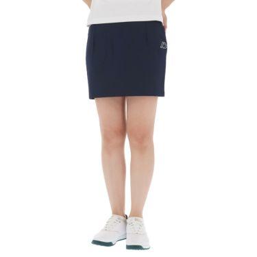 【ss特価】△カッパ レディース 撥水 ロゴプリント スカート KG922SK84 ゴルフウェア [春夏モデル 50%OFF] 特価 ネイビー(NV)