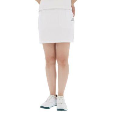 【ss特価】△カッパ レディース 撥水 ロゴプリント スカート KG922SK84 ゴルフウェア [春夏モデル 50%OFF] 特価 ホワイト(WT)