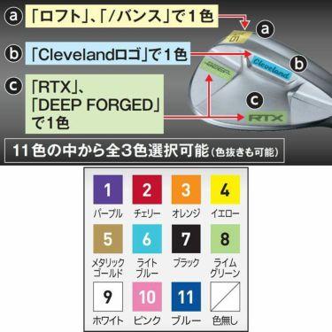 [MY RTX 刻印カラーカスタム] クリーブランド RTX DEEP FORGED ディープ フォージド ウェッジ N.S.PRO MODUS3 TOUR 105 スチールシャフト 2021年モデル 詳細1