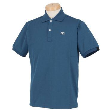 トラヴィスマシュー Travis Mathew メンズ ロゴ刺繍 鹿の子 半袖 ポロシャツ 7AD011 2021年モデル ネイビー(4NAV)