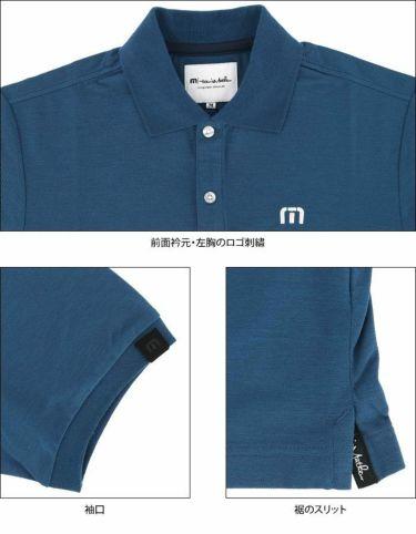 トラヴィスマシュー Travis Mathew メンズ ロゴ刺繍 鹿の子 半袖 ポロシャツ 7AD011 2021年モデル 詳細4