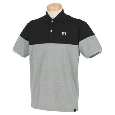 トラヴィスマシュー Travis Mathew メンズ ロゴ刺繍 バイカラー 半袖 ポロシャツ 7AD012 2021年モデル ブラック(0BLK)