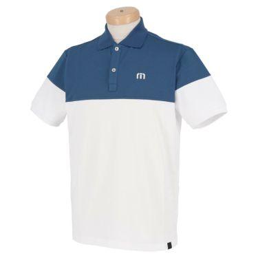 トラヴィスマシュー Travis Mathew メンズ ロゴ刺繍 バイカラー 半袖 ポロシャツ 7AD012 2021年モデル ネイビー(4NAV)