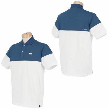 トラヴィスマシュー Travis Mathew メンズ ロゴ刺繍 バイカラー 半袖 ポロシャツ 7AD012 2021年モデル 詳細3