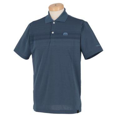トラヴィスマシュー Travis Mathew メンズ ロゴ刺繍 ランダムボーダー柄 半袖 ポロシャツ 7AD013 2021年モデル ネイビー(4NAV)