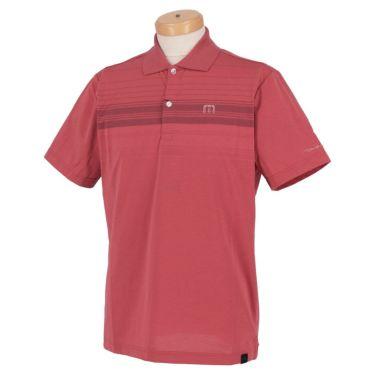 トラヴィスマシュー Travis Mathew メンズ ロゴ刺繍 ランダムボーダー柄 半袖 ポロシャツ 7AD013 2021年モデル レッド(6RED)