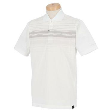 トラヴィスマシュー Travis Mathew メンズ ロゴ刺繍 ランダムボーダー柄 半袖 ポロシャツ 7AD013 2021年モデル ホワイト(1WHT)