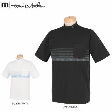 トラヴィスマシュー Travis Mathew メンズ ボタニカル柄 ボーダー 半袖 モックネックシャツ 7AD019 2021年モデル 詳細1