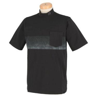 トラヴィスマシュー Travis Mathew メンズ ボタニカル柄 ボーダー 半袖 モックネックシャツ 7AD019 2021年モデル ブラック(0BLK)